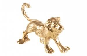 Bilde av Knagg løve gull metall 12x7cm